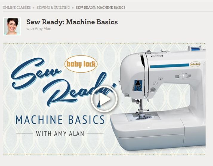 Craftsy Sewing Basics Class